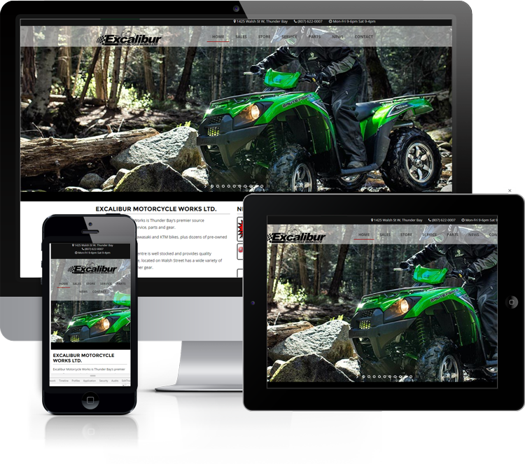 Website for Excalibur Motorcycle Works
