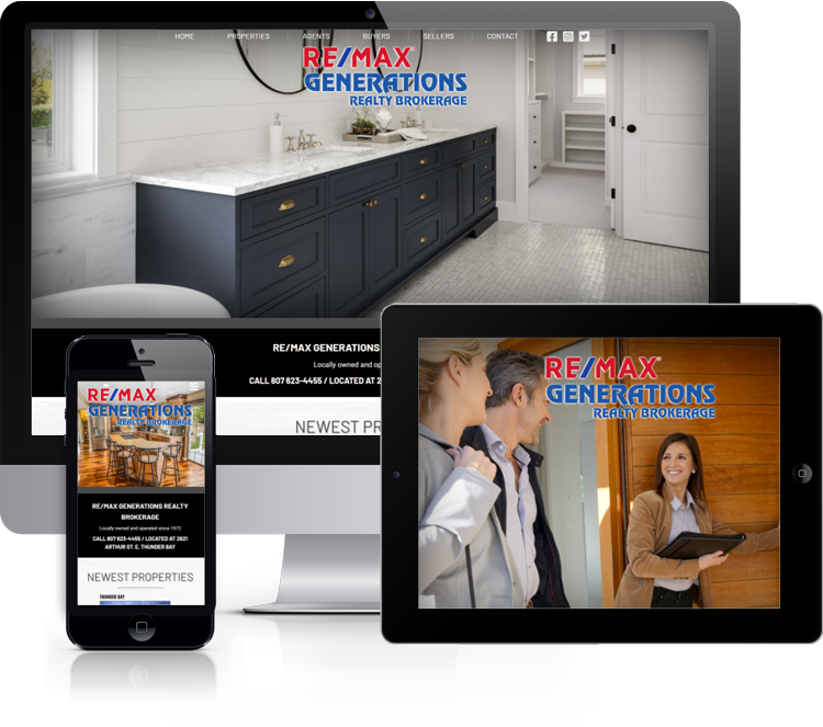 Website for Re/Max Generations Realty